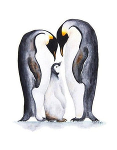 Penguins Pair with Baby Diamond Painting