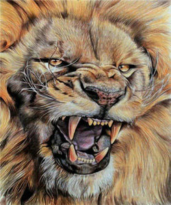 Raging Lion Diamond Painting Kit