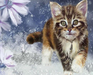 Running Cat Paint by Diamonds