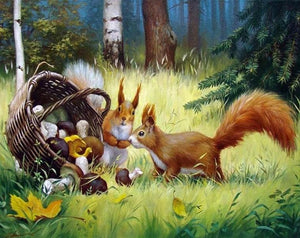 Squirrels DIY Diamond Painting