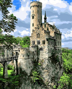 The Lichtenstein Castle Paint by Diamonds