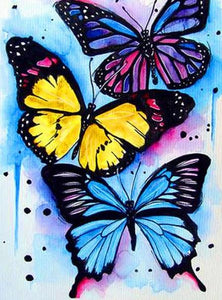 Colorful Butterflies Paint by Diamonds