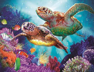 Turtles Pair Paint with Diamonds Kit