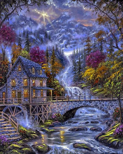Water Mill Paint by Diamonds