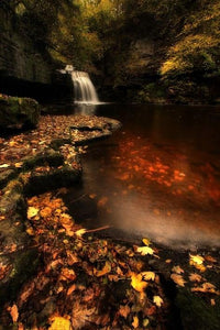 Waterfall in an Autumn Forest Diamond Painting