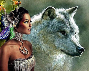Wolf Queen Paint by Diamonds
