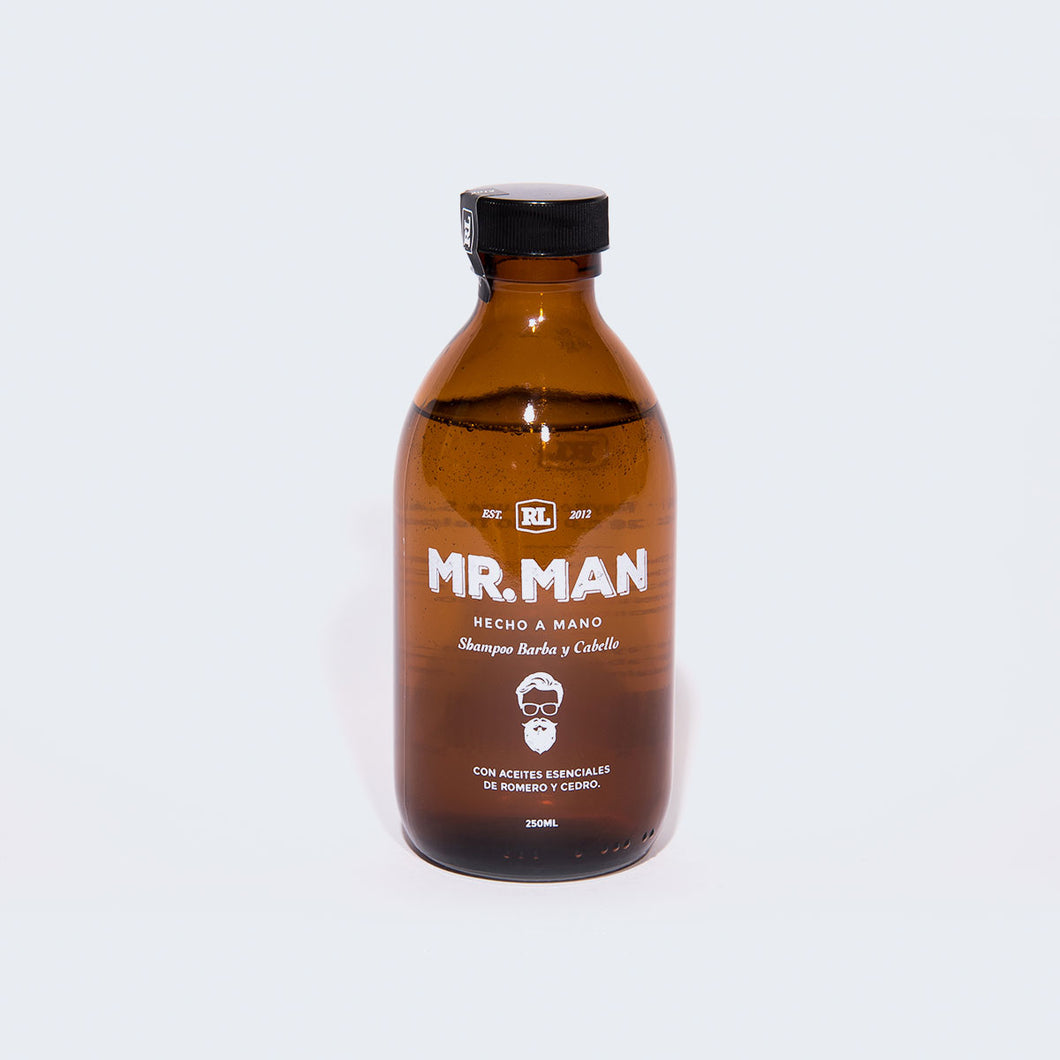 Shampoo Natural para Barba y Cabello de Mr. Man