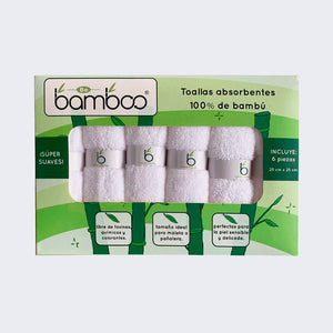 Kit de 6 Toallas Faciales de Bambú