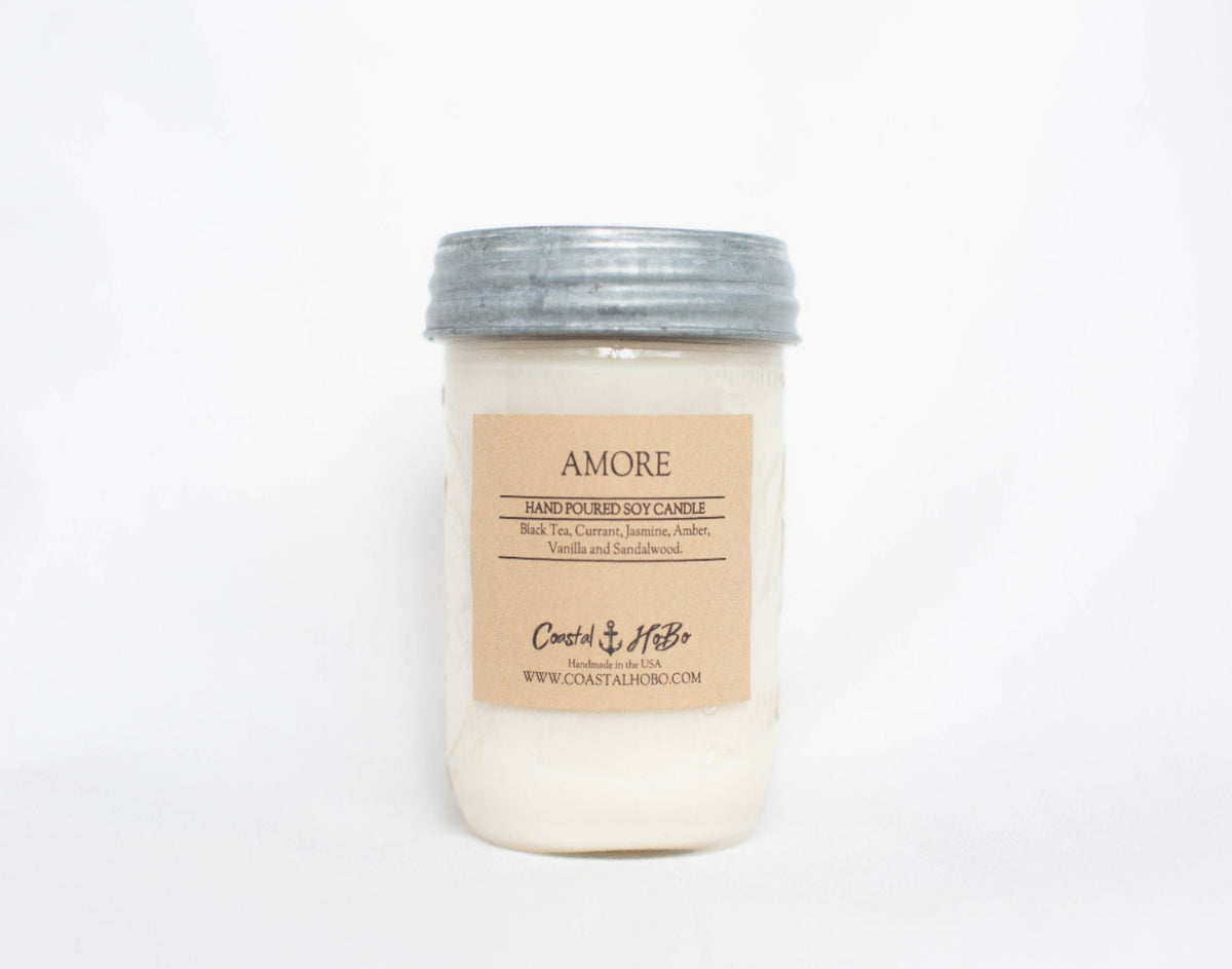 Mason Jar Amore Candle 16.oz