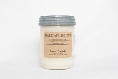 Mason Jar Hard Apple Cider Candle 16.Oz