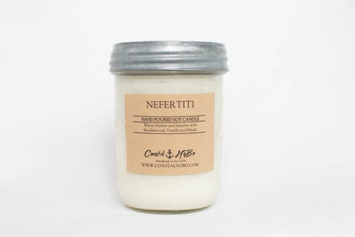 Mason Jar Nefertiti Candle 16.Oz