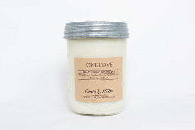 Mason Jar One Love Candle 16.Oz
