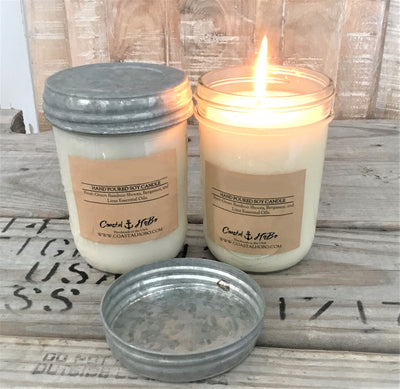 Grapefruit Gush - 16 oz Mason Jar Soy Candle