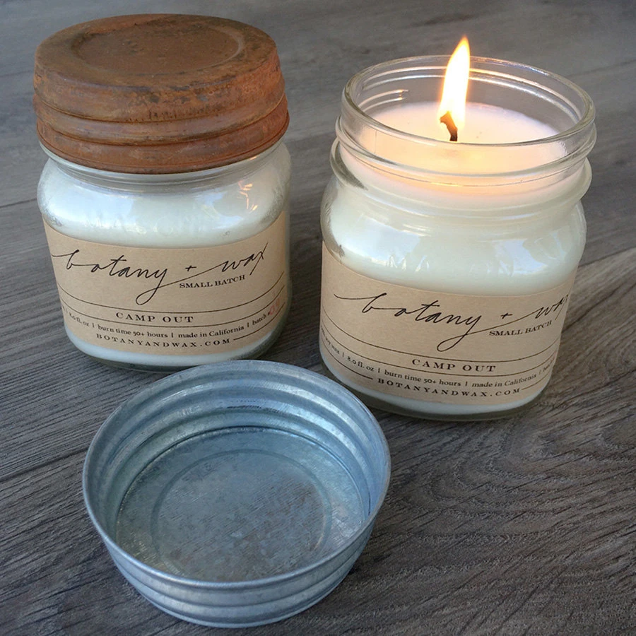 Hard Apple Cider - 8 oz Mason Jar Soy Candle