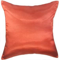 Artiwa 12x20 Silk Decorative Throw Accent Pillow Case Cover for Sofa Couch Bed Solid Color Gift Idea (12x20 in, Red)