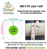 Baby Nursery Gender Neutral Closet Clothing Size Dividers Girl Set of 6 (1.25 Inch Rod)