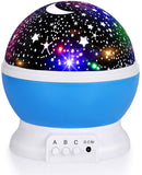 Luckkid Baby Night Light Moon Star Projector 360 Degree Rotation - 4 LED Bulbs 9 Light Color Changing with USB Cable, Unique Gifts for Men Women Kids Best Baby Gifts¡­