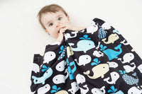 "Soft Minky Baby Blanket - with Premium Dotted Backing Whale Printed - Unisex - for Stroller, Crib, Newborns, Receiving (30""x40"")"