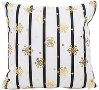 MHB Gold Foil Throw Pillow Cover Decorative Accent Pillows 18 x 18 Inch