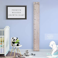 Back40Life Wooden Kids Growth Chart Ruler for Boys and Girls (No Tippy Toes - Loved Beyond Measure) (Ebony Wash)
