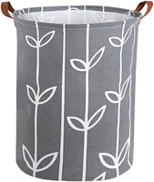 HIYAGON Large Storage Baskets,Waterproof Laundry Baskets,Collapsible Canvas Basket for Storage Bin for Kids Room,Toy Organizer,Home Decor,Baby Hamper(Grey Deer)