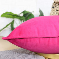 sykting Decorative Pillow Covers Soft Velvet Throw Pillow Cases for Couch Bed Chair Pack of 2 20 x 20 inch Hot Pink