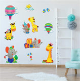 Animal Fun Wall Decal Stickers - Spectacular 3D Wall Decor - Set of 11 Easy to Stick Removable Wall Decals for Kids Teens Bedrooms Boys Girls Rooms Peel and Stick