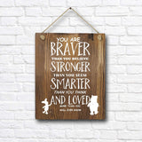 "Classic Winnie The Pooh Quotes and Saying Rustic Wood Wall Art Decor- 8""x10"" Wooden Hanging Art - Motivational Inspirational Classroom Office Child/Boy/Girl/Nursery Room Decor"