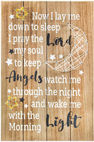 VILIGHT Nursery Sign Baby Room Decor - Now I Lay Me Down to Sleep Baptism Gifts for Boys and Girls - Kids Bedroom Wall 3D Moon and Star String Art Decorations - 11x16 Inches