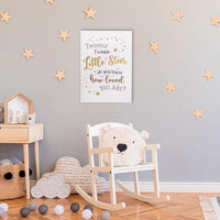 Lillian Rose Twinkle Little Star Canvas Baby Nursery Sign, White