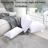 Home Brilliant Super Soft Large Pillow Cover Striped Corduroy Decorative Euro Throw Pillow Sham Cushion Cover for Couch, 26x26 inch(66cm), Pure White