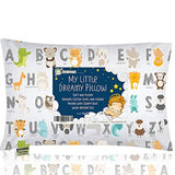 Toddler Pillow With Pillowcase - 13X18 Soft Organic Cotton Baby Pillows For Sleeping - Machine Washable - Toddlers, Kids, Infant - Perfect For Travel, Toddler Cot, Bed Set (KeaSafari)