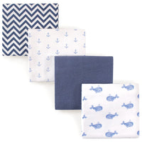 Hudson Baby Unisex Baby Cotton Flannel Receiving Blankets, Airplane, One Size