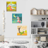 ETIUC Set of 3 Dinosaur 3D Nursery Wall Art for Boys Girls 12x12 New Born Baby Kids Room Safari Animal Sticky Paintings Quotes Wall Decor Jungle Zoo Room Prints Wall Stickers(Dinosaur)