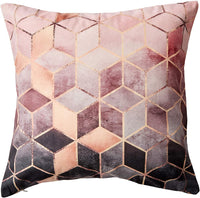 NJHarvests Throw Pillow Covers Set of 2|Decorative Pillow|Accent Decor|Sofa Couch Bed Throw Pillows Covers|Cushion Covers|Pillow Cases|Nordic Style Geometric Pattern Pink Rose Gold Pillow Cover 18x18
