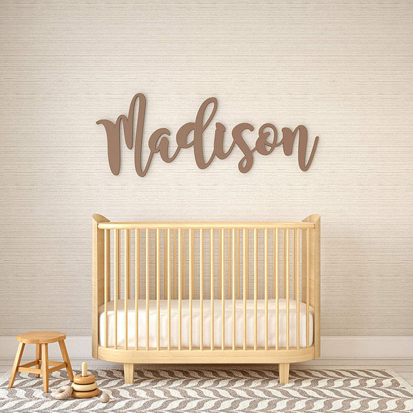 "Personalized Baby Name Sign for Nursery Decor by Panhandle Mercantile | Custom Cut & Finished | Made of Wood | Customizable Font | Choose from our 90+ Color Options | Up to 54"" Wide"