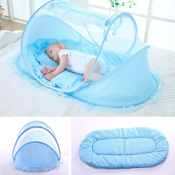 0-24 Months Baby Bed Portable Foldable Baby Crib With Netting Newborn Sleep Bed Travel Bed Mosquito Net Baby Bedding