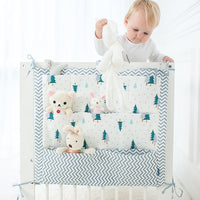 Portable Baby Crib Hanging Storage Bag Infant Baby Cot  Bed Cotton Crib Organizer 60*50cm Toy Diaper Pocket for Crib Bedding Set