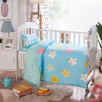 3Pcs Baby Bedding Set 100% Cotton Crib Sets Baby Cot Set with Quilt Cover Pillowcase mattress cover Children Bed Sheet Bedspread