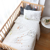 3Pcs Baby Bedding Set For Boy Girl Nordic Cotton Kids Bed Linen Cot Kit Crib Bedding For Newborns No Filler Allow Custom Size