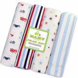 Newborn Baby Bed Sheet Bedding Set  4pcs/lot 76x76cm For Newborn Crib Sheets Cot Linen Cotton Flannel Printing Baby Blanket