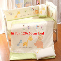 9Pcs Cotton Baby Bedding Set Newborn Infant Crib Infant Bedding Kit Quilt Pillow Bed Sheet Bumpers Bed Around Cot Bed Setting