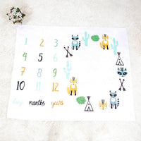 Baby Blanket Newborn Swaddle Stroller Bedding Wrap Photo Background Monthly Growth Kids Height Measurement Growth Chart Wall