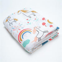 Baby Blankets Cotton Newborn Photography Accessories Stroller Cover Cartoon Pattern Wrap Baby Play Mat Muslin Swaddle Blanket