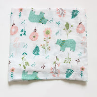 Cotton Bamboo Fiber Baby Blanket Multi-use Newborn Infant Stroller Cover Shower Towel Muslin Babies Swaddle Wrap Blanket Pattern