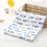 120*110cm 2 Layers 100% Muslin Cotton Baby Swaddling Soft Baby Blankets Newborn Baby Towel with Random Pattern Milestone Blanket