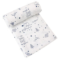 Muslin Swaddle Blanket 100% Organic Cotton Soft Wrap Baby Unisex Neutral Burp Cloth Set Perfect Size 47x47 inch Shower Gift