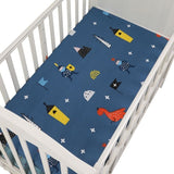 Baby Bed Mattress Cover Soft Protector Cartoon Printed Newborn Baby Bedding For Cot 100% Cotton Crib Fitted Sheet Size 130*70cm