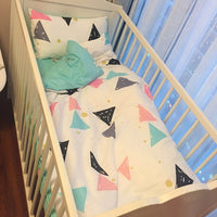 120*60cm 130*70cm cute Baby crib bedding set 100% cotton included flat sheets baby bedding Clouds Pine crown Pattern for girls