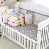 Kidlove 7Pcs Cotton Crib Bed Linen Kit Cartoon Pattern Baby Bedding Set 120x65cm
